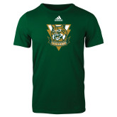 Adidas Dark Green Logo T Shirt-Primary Athletic Mark