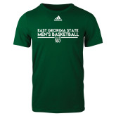 Adidas Dark Green Logo T Shirt-East Georgia Mens Basketball