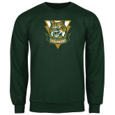 Dark Green Fleece Crew-Primary Athletic Mark