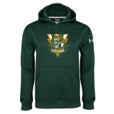 Under Armour Dark Green Performance Sweats Team Hoodie-Primary Athletic Mark