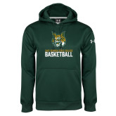 Under Armour Dark Green Performance Sweats Team Hoodie-Basketball