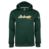 Under Armour Dark Green Performance Sweats Team Hoodie-Softball Script