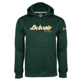 Under Armour Dark Green Performance Sweats Team Hoodie-Softball Script