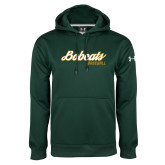 Under Armour Dark Green Performance Sweats Team Hoodie-Baseball Script