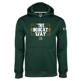 Under Armour Dark Green Performance Sweats Team Hoodie-The Bobcat Way