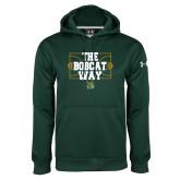 Under Armour Dark Green Performance Sweats Team Hoodie-The Bobcat Way