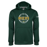 Under Armour Dark Green Performance Sweats Team Hoodie-East Georgia Basketball In Ball