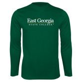 Performance Dark Green Longsleeve Shirt-Primary Mark