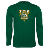 Performance Dark Green Longsleeve Shirt-Primary Athletic Mark