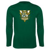 Syntrel Performance Dark Green Longsleeve Shirt-Primary Athletic Mark