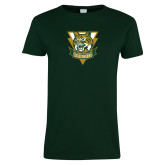 Ladies Dark Green T Shirt-Primary Athletic Mark