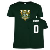 Ladies Dark Green T Shirt-Primary Athletic Mark, Custom Tee w/ Name and #