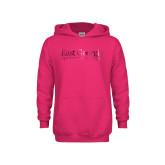 Youth Raspberry Fleece Hoodie-Primary Athletic Mark  Foil