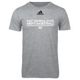 Adidas Sport Grey Logo T Shirt-East Georgia Mens Basketball