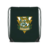 Dark Green Drawstring Backpack-Primary Athletic Mark