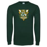 Dark Green Long Sleeve T Shirt-Primary Athletic Mark