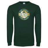 Dark Green Long Sleeve T Shirt-Shield