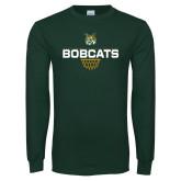 Dark Green Long Sleeve T Shirt-Basketball Sharp Net