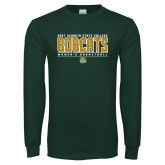 Dark Green Long Sleeve T Shirt-Womens Basketball Stacked