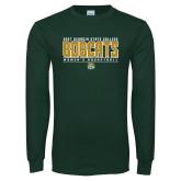 Dark Green Long Sleeve T Shirt-Womens Basketball Stacked