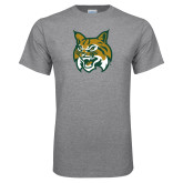 Grey T Shirt-Bobcat Head