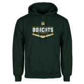 Dark Green Fleece Hood-Baseball Plate Design