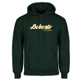 Dark Green Fleece Hood-Baseball Script