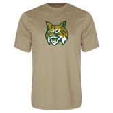 Performance Vegas Gold Tee-Bobcat Head
