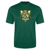 Performance Dark Green Heather Contender Tee-Primary Athletic Mark
