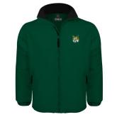 Dark Green Survivor Jacket-Bobcat Head