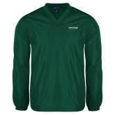 V Neck Dark Green Raglan Windshirt-Primary Mark