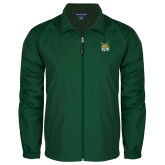 Full Zip Dark Green Wind Jacket-Bobcat Head