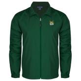 Full Zip Dark Green Wind Jacket-Bobcat Head
