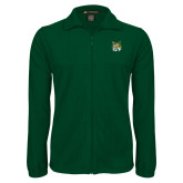 Fleece Full Zip Dark Green Jacket-Bobcat Head