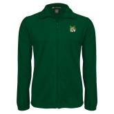 Fleece Full Zip Dark Green Jacket-Bobcat Head