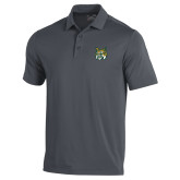 Under Armour Graphite Performance Polo-Bobcat Head