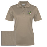 Ladies Vegas Gold Dry Mesh Polo-Bobcat Head