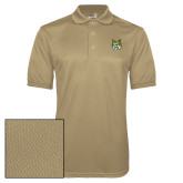 Vegas Gold Dry Mesh Polo-Bobcat Head