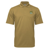 Vegas Gold Mini Stripe Polo-Bobcat Head