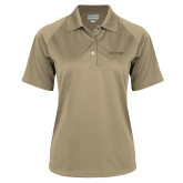 Ladies Vegas Gold Textured Saddle Shoulder Polo-Primary Mark
