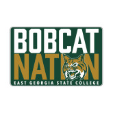 Small Magnet-Bobcat Nation Decal, 6 inches wide
