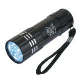 Industrial Triple LED Black Flashlight-Bobcat Head  Engraved