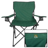 Deluxe Green Captains Chair-Bobcat Head