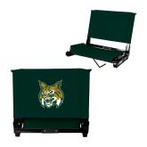 Stadium Chair Dark Green-Bobcat Head