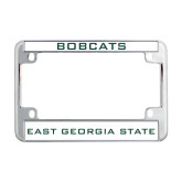 Metal Motorcycle License Plate Frame in Chrome-Bobcats