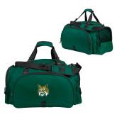 Challenger Team Dark Green Sport Bag-Bobcat Head