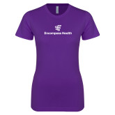 Next Level Ladies SoftStyle Junior Fitted Purple Tee-EH Stacked