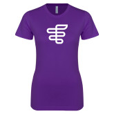 Next Level Ladies SoftStyle Junior Fitted Purple Tee-EH Symbol
