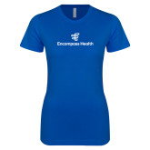 Next Level Ladies SoftStyle Junior Fitted Royal Tee-EH Stacked