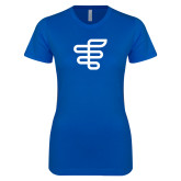 Next Level Ladies SoftStyle Junior Fitted Royal Tee-EH Symbol